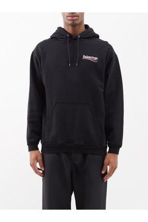 Balenciaga Men Sweatshirts - Logo-print Cotton-jersey Hooded Sweatshirt - Mens