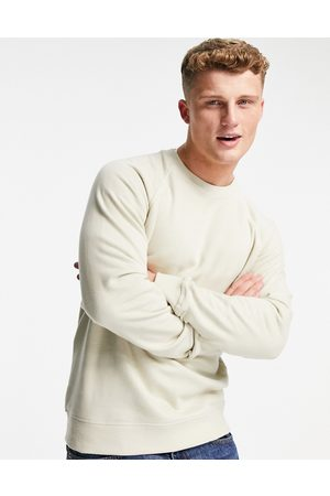 Only & Sons Co-ord crew neck sweatshirt in washed beige-Neutral
