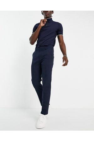 Burton Menswear Burton slim fit green check pants in