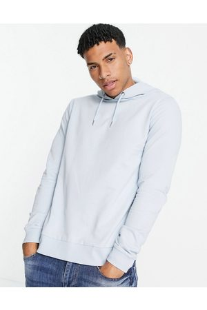 ASOS DESIGN Lightweight hoodie in light blue