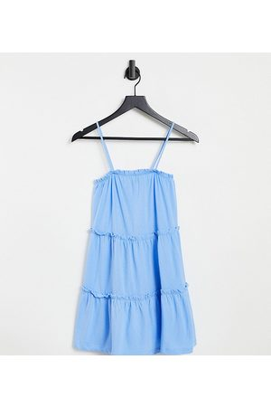 ASOS Petite strappy sundress with tiered frill detail in