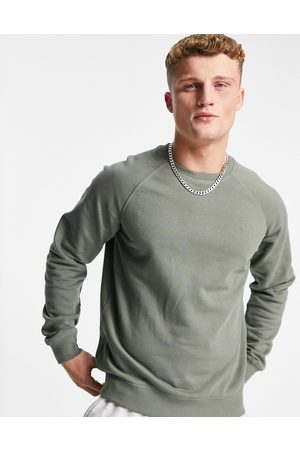 Only & Sons Co-ord crew neck sweatshirt in washed green