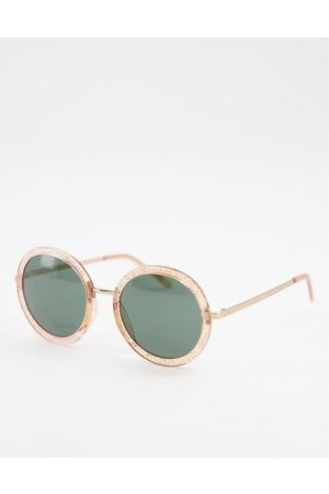 AJ Morgan Oversized Round Sunglasses