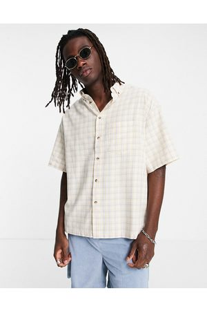ASOS Boxy oversized button down shirt in check