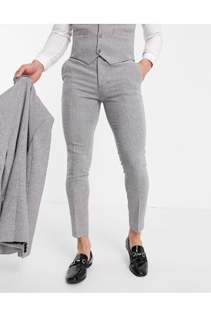 ASOS DESIGN Wedding super skinny wool mix suit pants in puppytooth