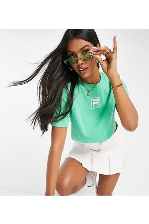 Fila Towelling cropped t-shirt in