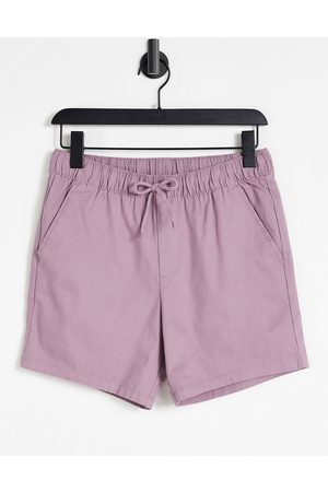 ASOS Skinny chino shorts with elasticated waist in purple