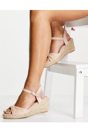 Glamorous Wedge espadrille sandals in beige-Neutral