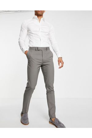 ASOS DESIGN Skinny khaki suit pants-Green
