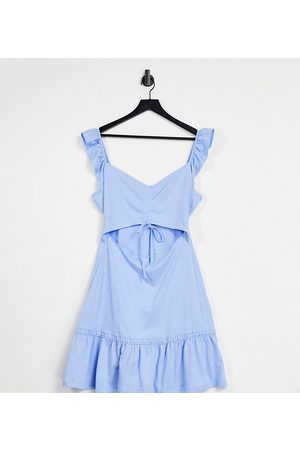 ASOS DESIGN Tall cut-out sundress with ruffle shoulder in