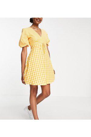 Influence Tall Mini tea dress in gingham