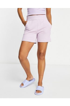 Pieces Lounge sweat shorts co-ord in -Purple