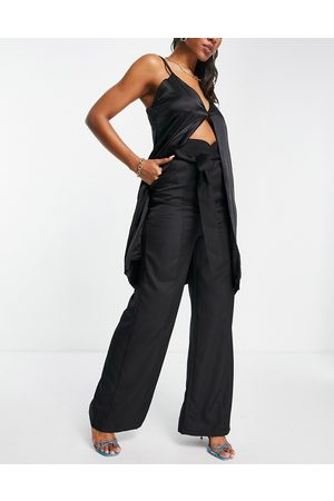 Club L London Wide leg slouchy pants with belt co-ord in