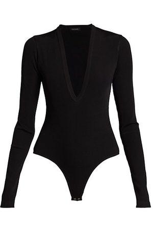 Goldsign Rib Deep V-Neck Bodysuit