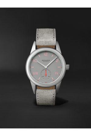 Nomos Glashütte Men Watches - Club Campus Hand-Wound 36mm Stainless Steel and Leather Watch, Ref. No. 712