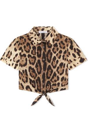 Dolce & Gabbana Leopard-print knot-front shirt