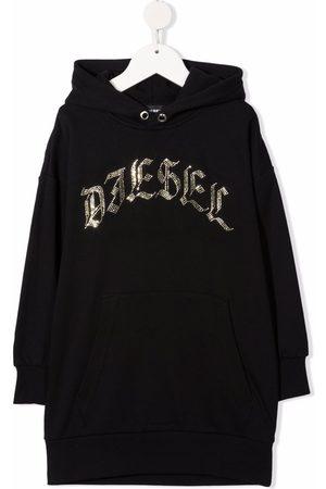 Diesel Embellished-logo hooded dress