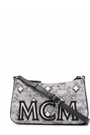 MCM Logo-embroidered crossbody bag