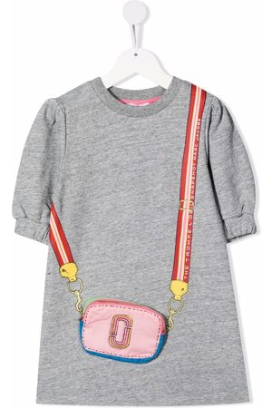 The Marc Jacobs Girls Casual Dresses - Bag-appliqué puff-sleeves dress