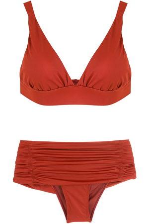 Brigitte Ruched-detail bikini
