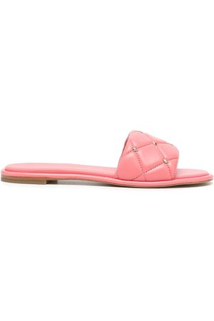 Michael Michael Kors Women Thongs - Rina quilted leather slides
