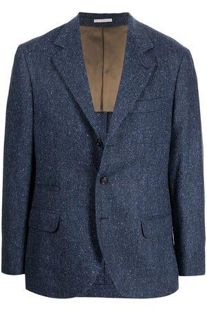 Brunello Cucinelli Herringbone single-breasted blazer