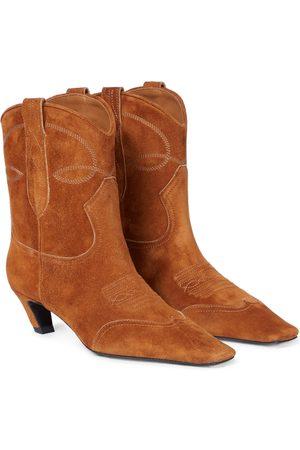 Khaite Women Cowboy & Biker Boots - Dallas suede cowboy boots