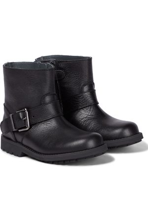 BONPOINT Moto grained leather ankle boots