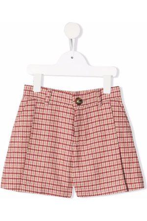Chloé Check-pattern mini shorts