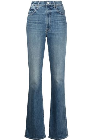 Mother High-rise straight-leg jeans