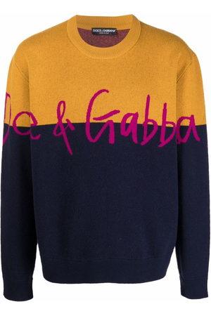 Dolce & Gabbana Men Sweatshirts - Logo-print crew neck jumper