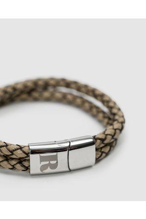RUMI Men Bracelets - Sand Leather Bracelet - Jewellery Sand Leather Bracelet
