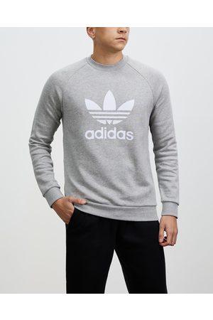 adidas Adicolour Trefoil Crew Sweatshirt - Crew Necks ( Heather & ) Adicolour Trefoil Crew Sweatshirt