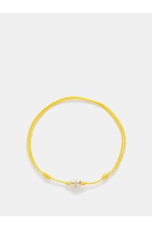 LUIS MORAIS Diamonds & 14kt Gold Rope Bracelet - Mens