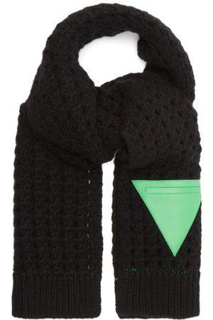 Bottega Veneta Women Scarves - Triangle-patch Wool Cable-knit Scarf - Womens