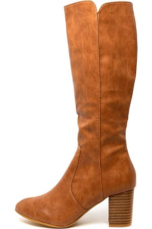 I LOVE BILLY Millee Tan Boots Womens Shoes Casual Long Boots