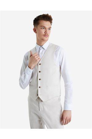 Hallensteins Sommer Linen Blend Waistcoat in Oat