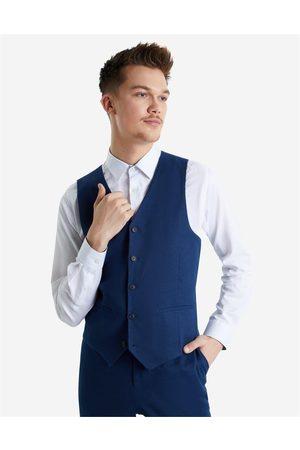 Hallensteins Sommer Linen Blend Waistcoat in Navy