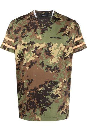 Dsquared2 Men Short Sleeve - Camouflage-print cotton T-shirt