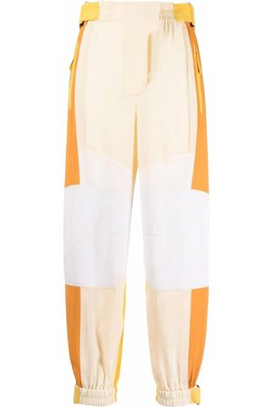 Stella McCartney Lacey patchwork-design tapered trousers