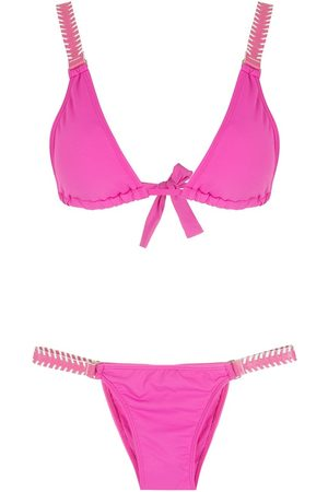 AMIR SLAMA Women Bikinis - Tie-fastening triangle bikini set