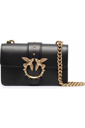 Pinko Logo-plaque leather satchel bag