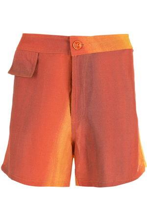 AMIR SLAMA Printed straight shorts