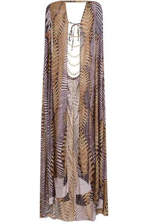 Amir Slama Women Printed Dresses - Printed cape beach dress