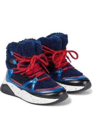 Stella McCartney Kids Fleece-trimmed ankle boots
