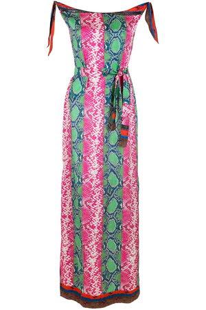 AMIR SLAMA Women Maxi Dresses - Printed silk maxi dress