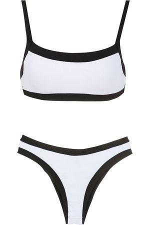 AMIR SLAMA Two-tone bikini set