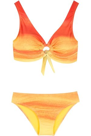 AMIR SLAMA Gradient-effect bikini