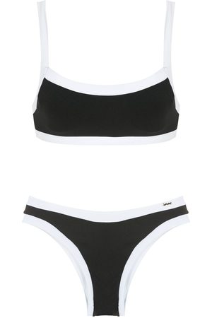 AMIR SLAMA Women Bikinis - Two-tone bikini set