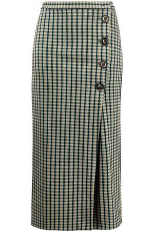Pinko Women Midi Skirts - Button-up checked midi skirt
